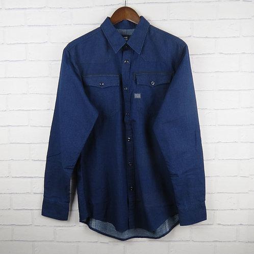 G-Star Raw Navy Polka Dot Shirt