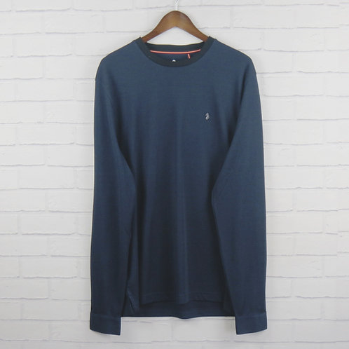 Luke Navy Skinny Long Sleeve T-Shirt