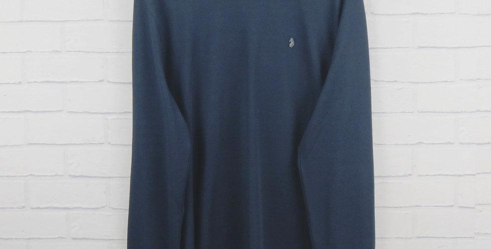 Luke Navy Skinny Long Sleeve T-Shirt