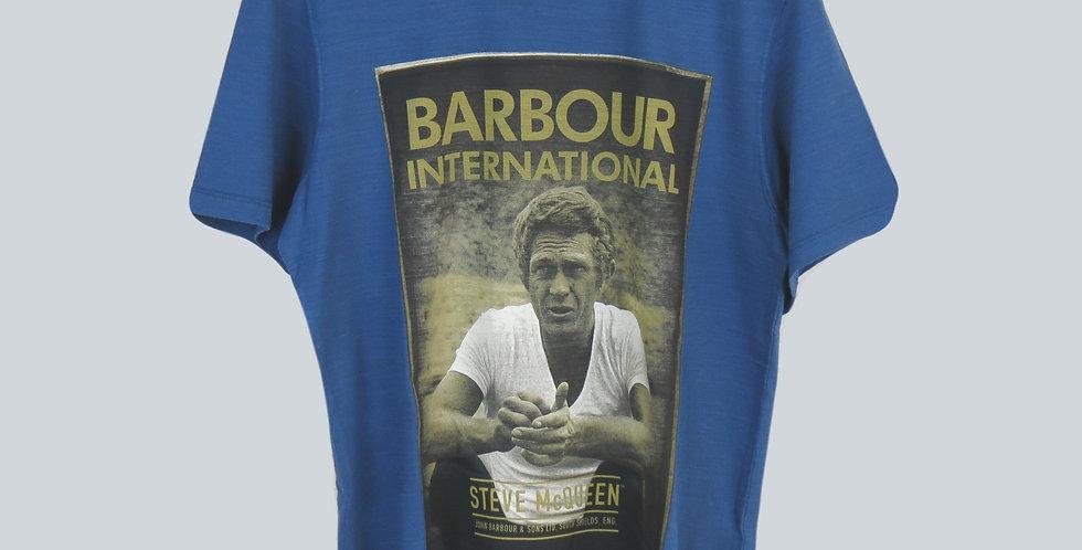Barbour Steve Mc Queen Relax T-Shirt Blue