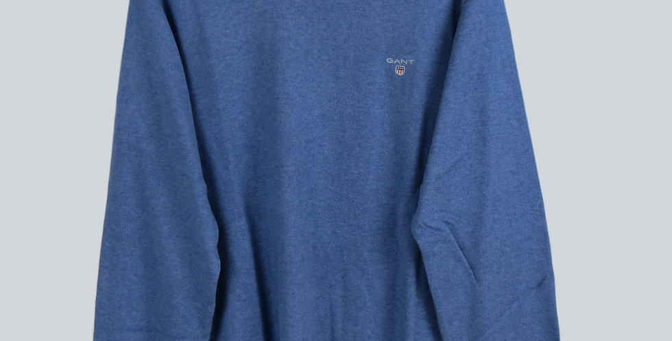Gant Cotton/Wool Crew Sweater Blue