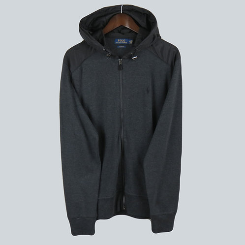 Polo Ralph Lauren Charcoal Knitted Hooded Jacket