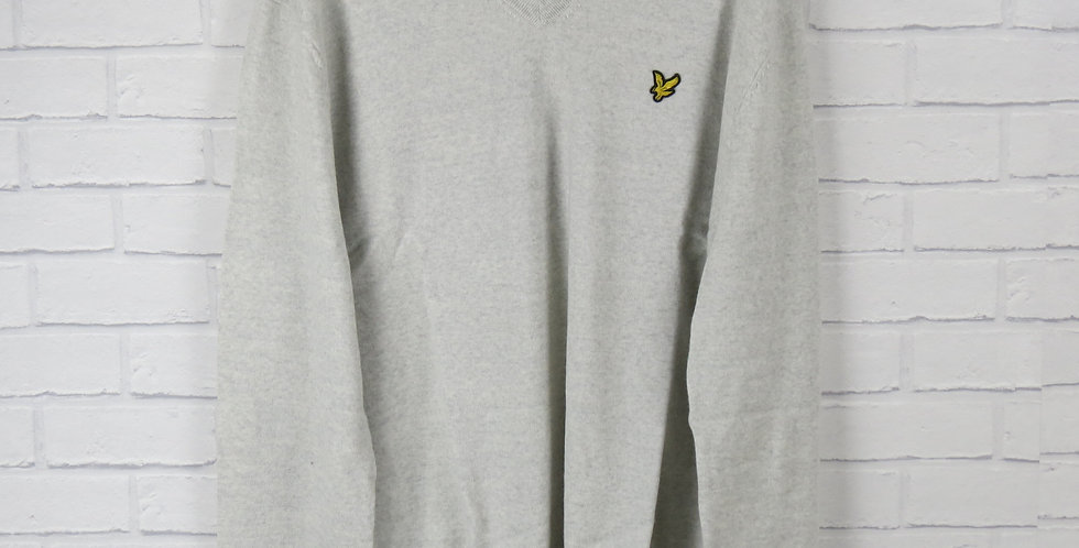 Lyle & Scott Merino V Neck Stone