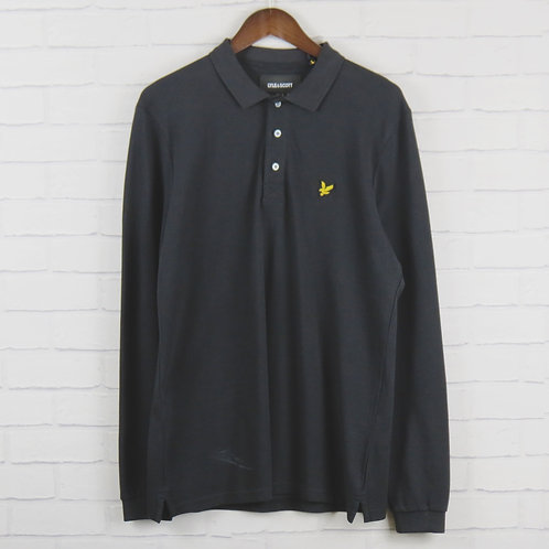 Lyle and Scott Long Sleeve Polo Black