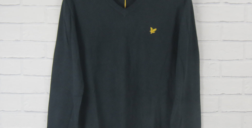 Lyle & Scott Cotton V Neck Navy