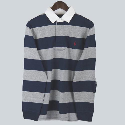 Polo Ralph Lauren Rugby Jersey Navy & Grey