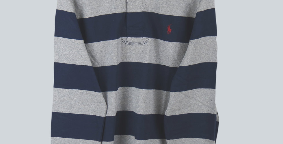 Polo Ralph Lauren Rugby Jersey Navy & Grey