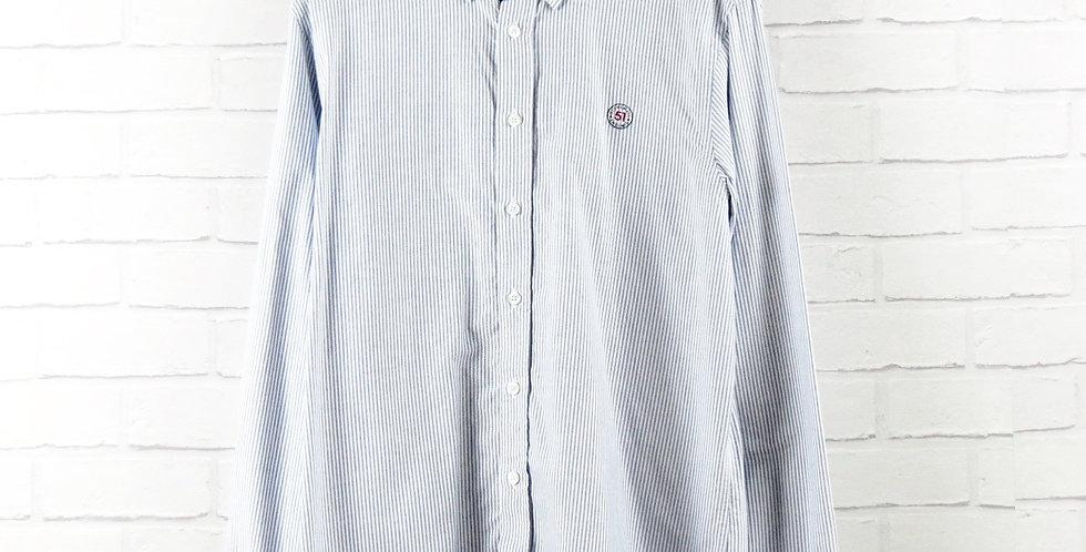Gloverall Blue Stripe Oxford