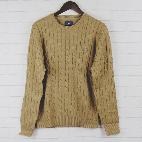 Gant Sand Cable Crew Sweater