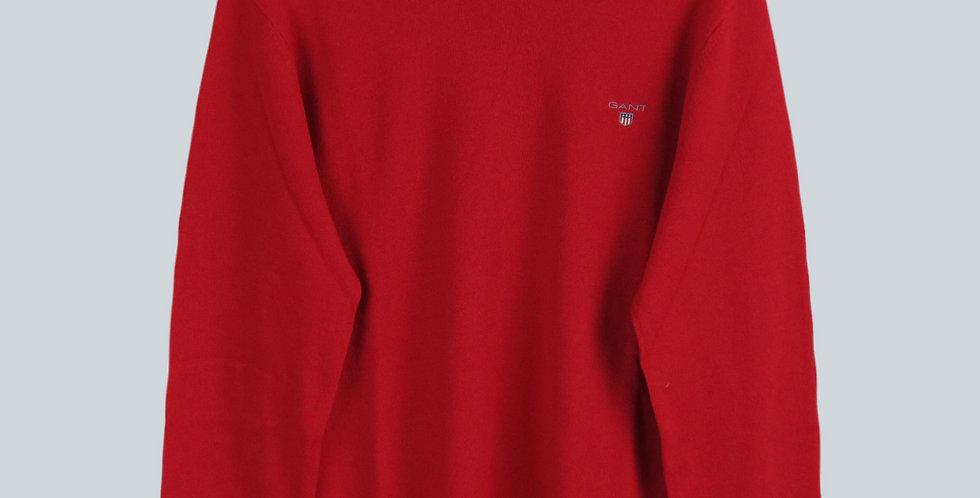 Gant Superfine Lambswool Crew Sweater Red