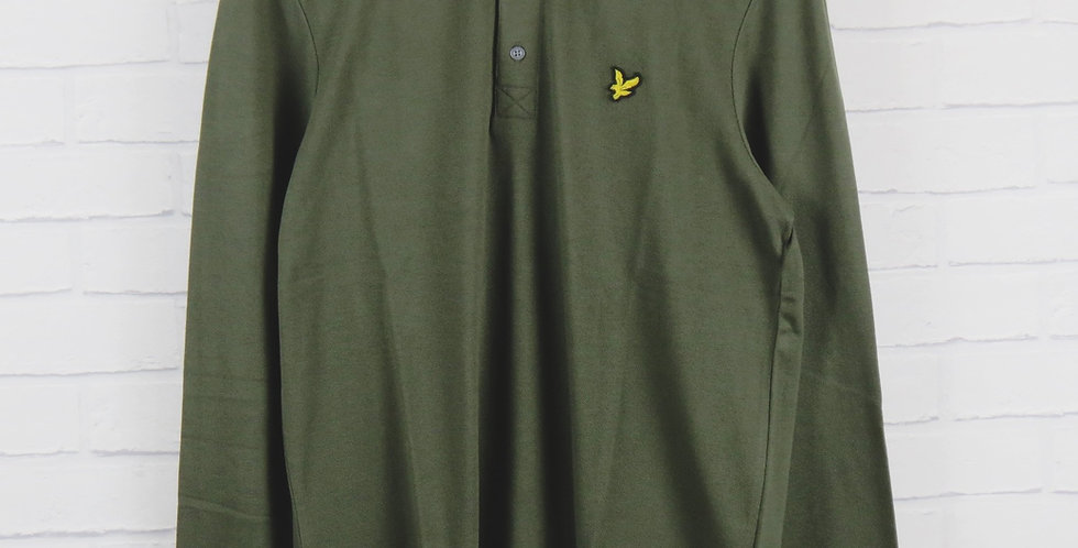Lyle and Scott Khaki Long Sleeve Polo