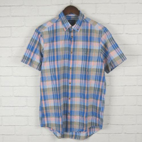 Gant Madrass Check Shirt Blue SS