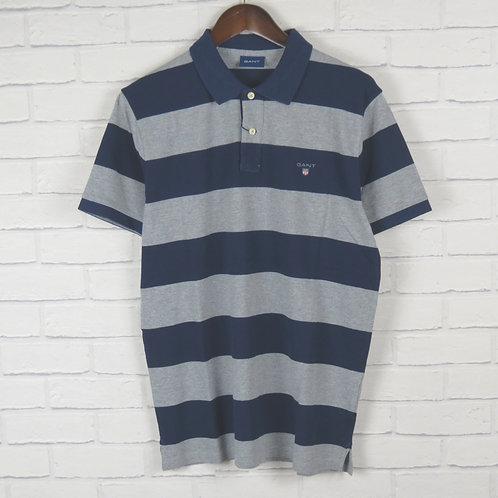 Gant Rugger Blue Stripe Pique SS Polo