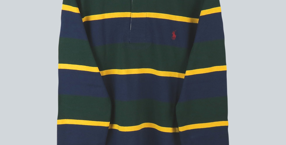 Polo Ralph Lauren Rugby Jersey Navy, Green and Yellow