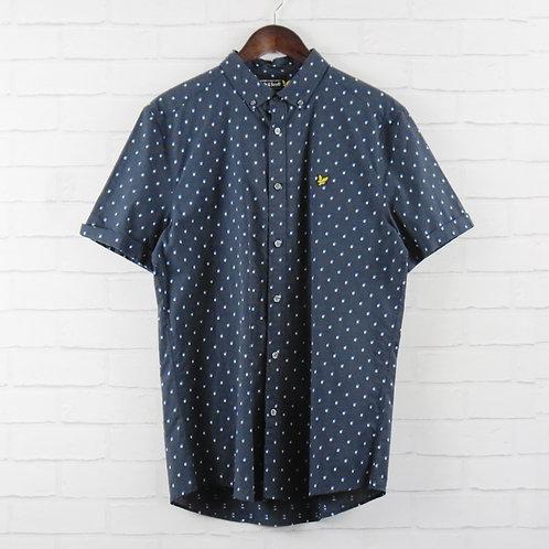 Lyle & Scott Navy Dobby Shirt