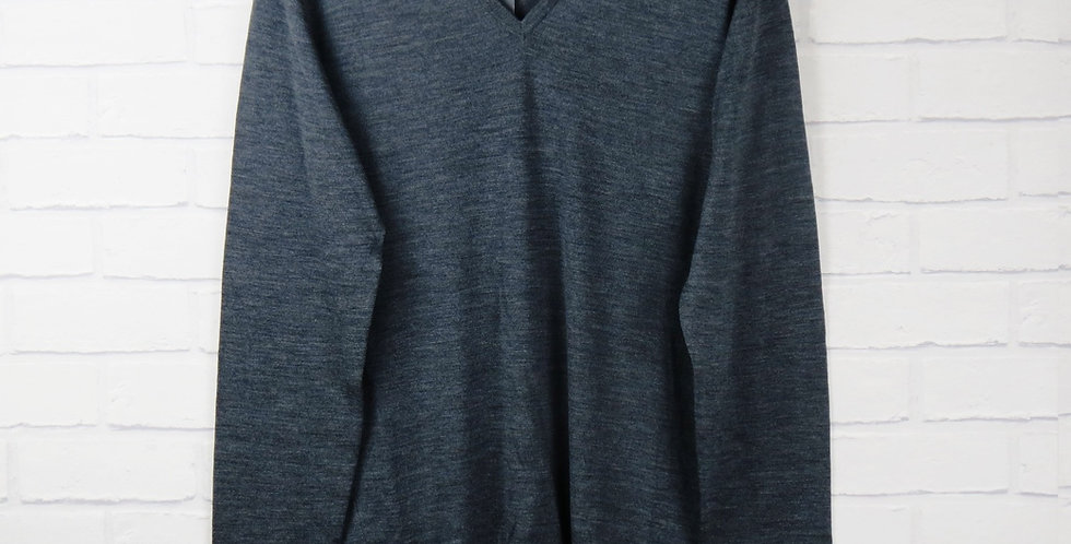 John Smedley Grey V Neck Sweater