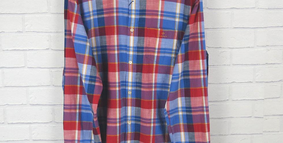 Gant Madras Check Shirt Red & Blue