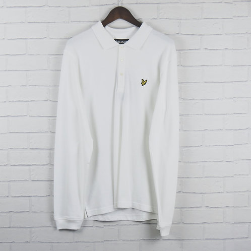 Lyle and Scott Long Sleeve Polo White