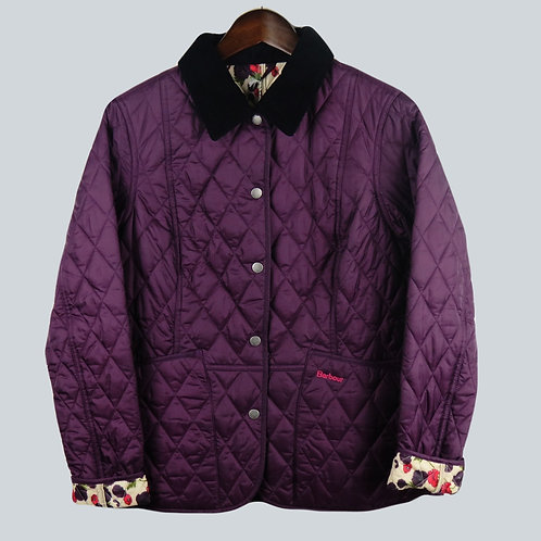 Barbour Purple Liddesdale Quilt Ladies