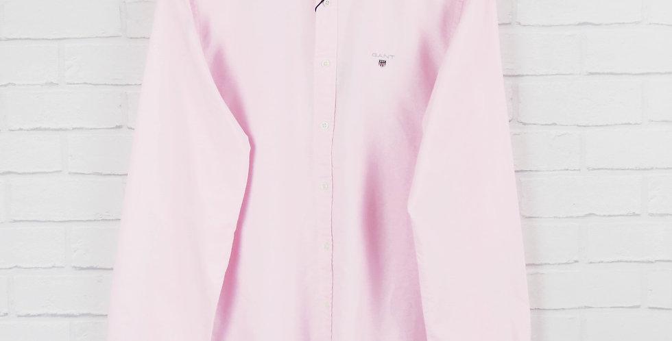 Gant Slim Fit Pink Oxford