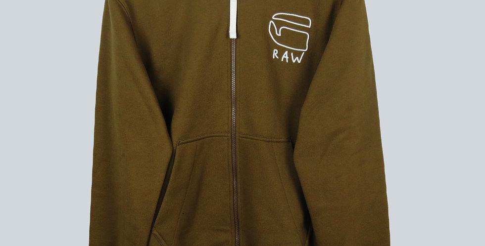 G-Star RAW Khaki Bomber Zip Sweatshirt