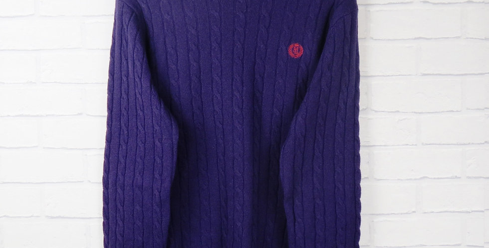Henri Lloyd Purple Cable Knit