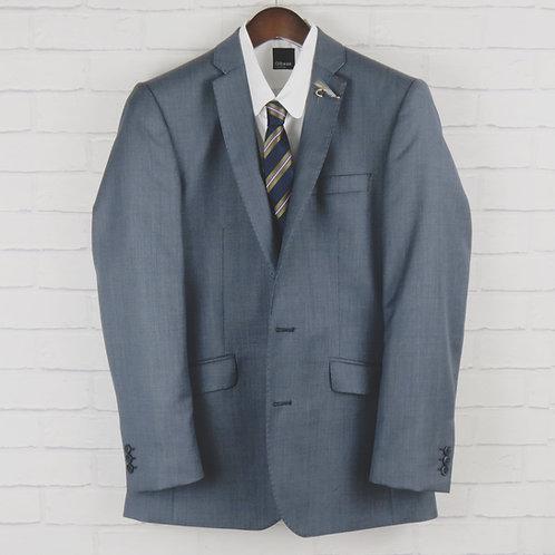 Blue Sharkskin Suit Blazer