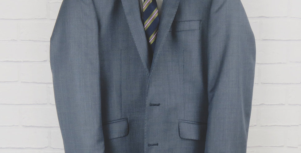 Blue Sharkskin Suit Blazer