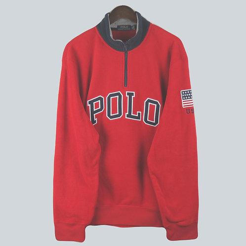 Polo Ralph Lauren Fleece 3/4 Zip Red