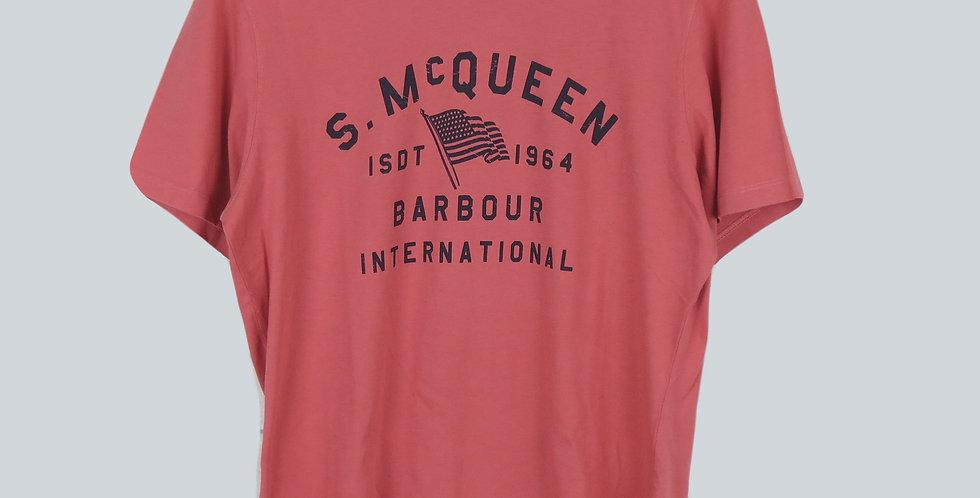 Barbour Steve Mc Queen Boon T-Shirt Pink