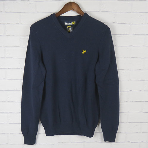Lyle & Scott Pure New Wool V Neck Navy