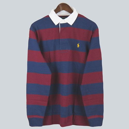 Polo Ralph Lauren Rugby Jersey Navy & Burgundy