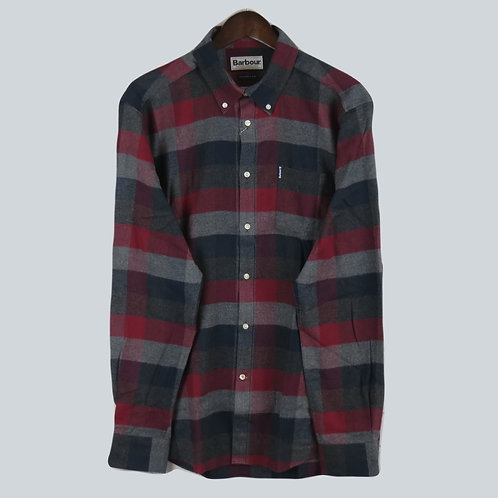 Barbour City Check Shirt - Red/Grey/Navy