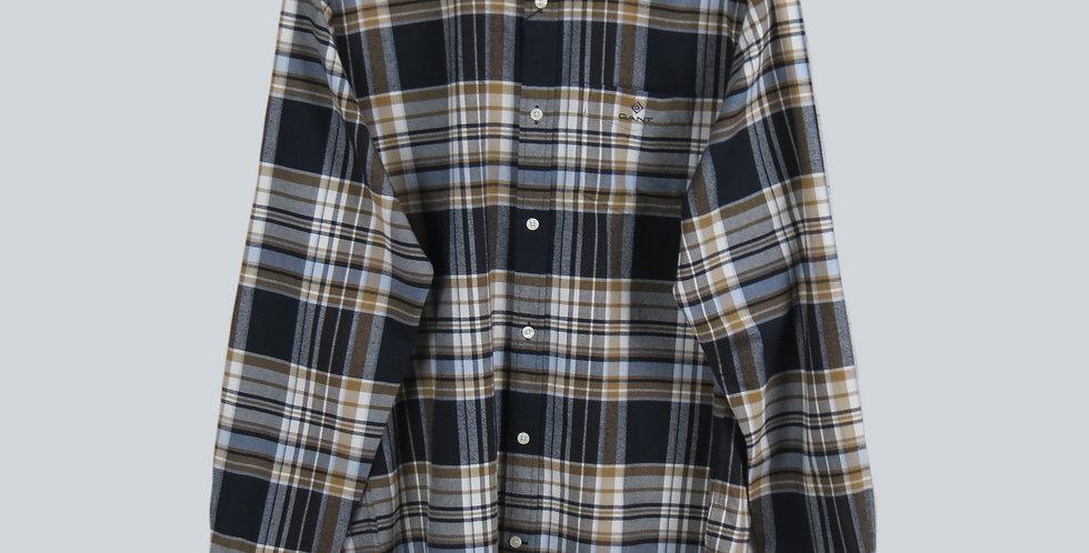 Gant Check Shirt Khaki/White/Navy