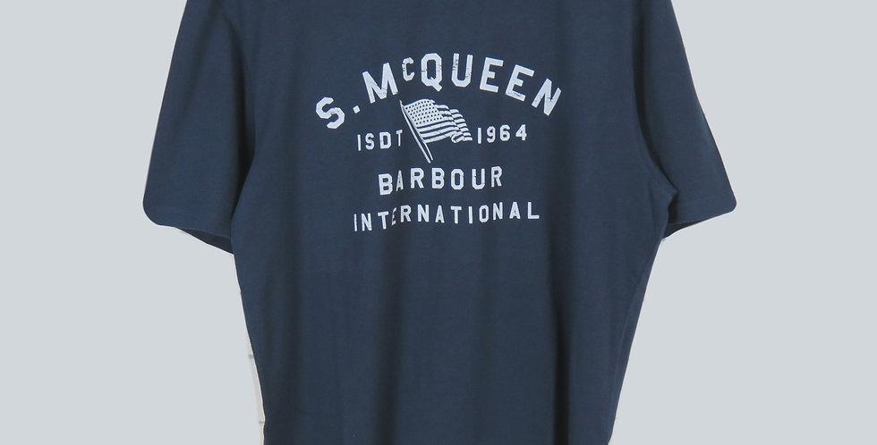Barbour Steve Mc Queen Boon T-Shirt Navy