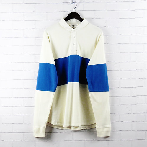 YMC Rugby Shirt Cream/Blue