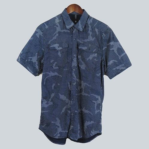 G-Star Raw Short Sleeve Shirt Navy Camo