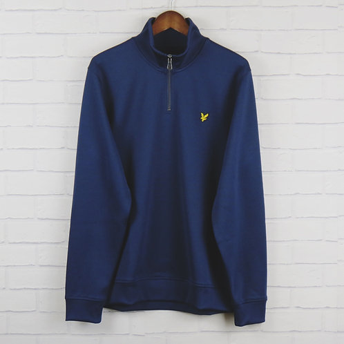 Lyle and Scott 3/4 Track Top Navy