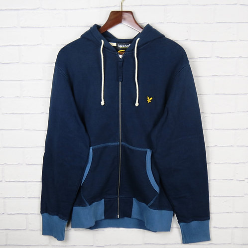 Lyle and Scott Navy Hooded Sweatshirt