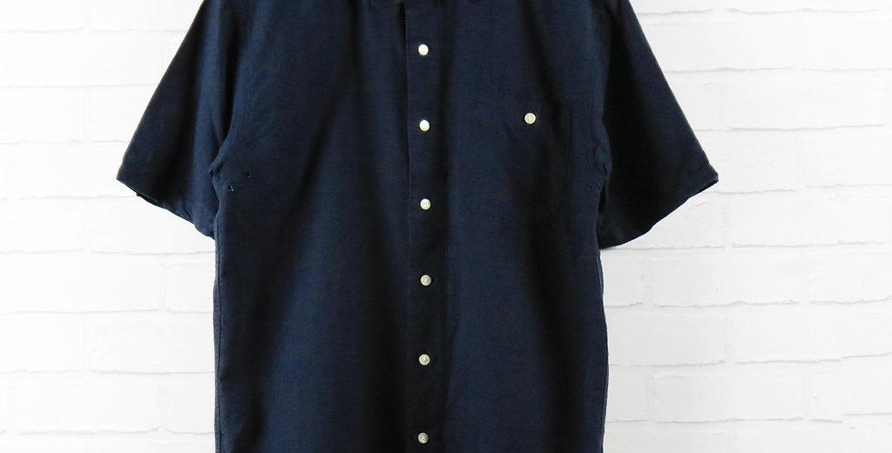 YMC Navy Cotton/Linen Shirt