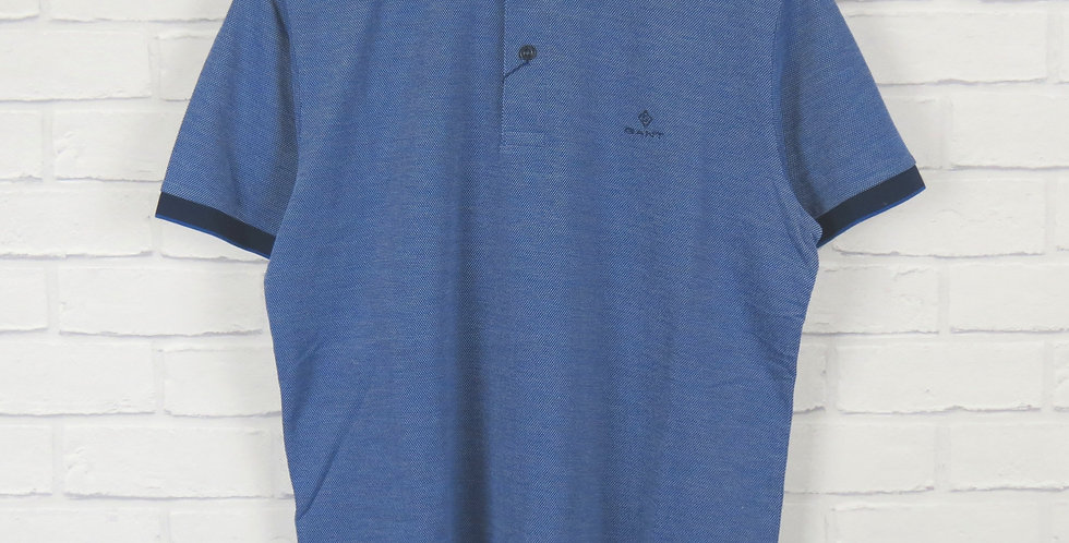 Gant Rugger Blue Pique SS Polo