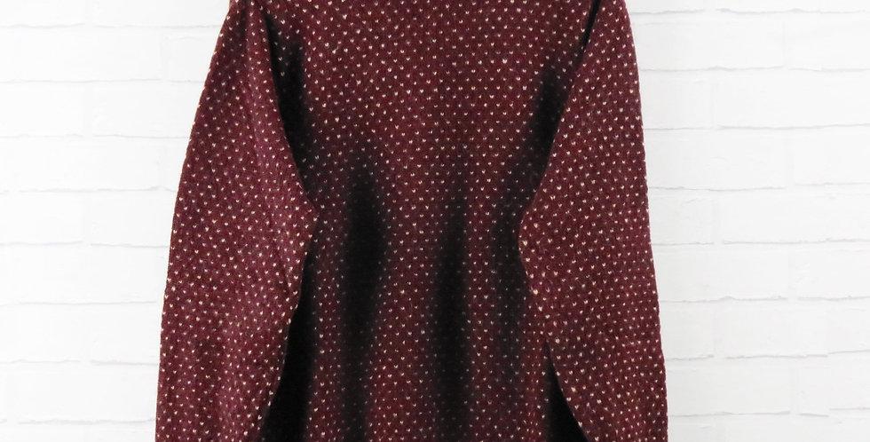 YMC Burgundy Birds Eye Sweater