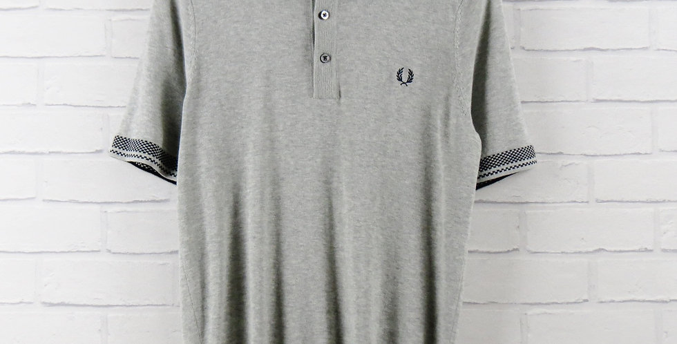 Fred Perry Knitted Polo Grey