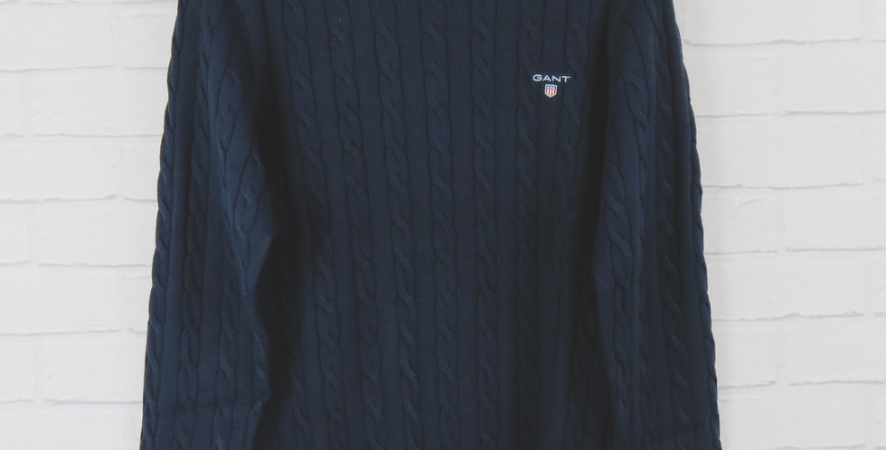 Gant Navy Cable Crew Sweater