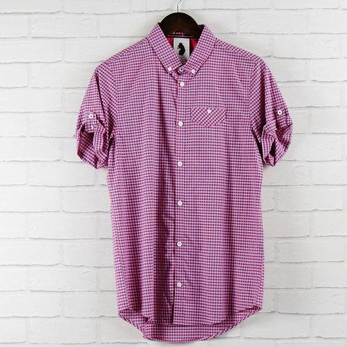 Luke Pink Check Shirt