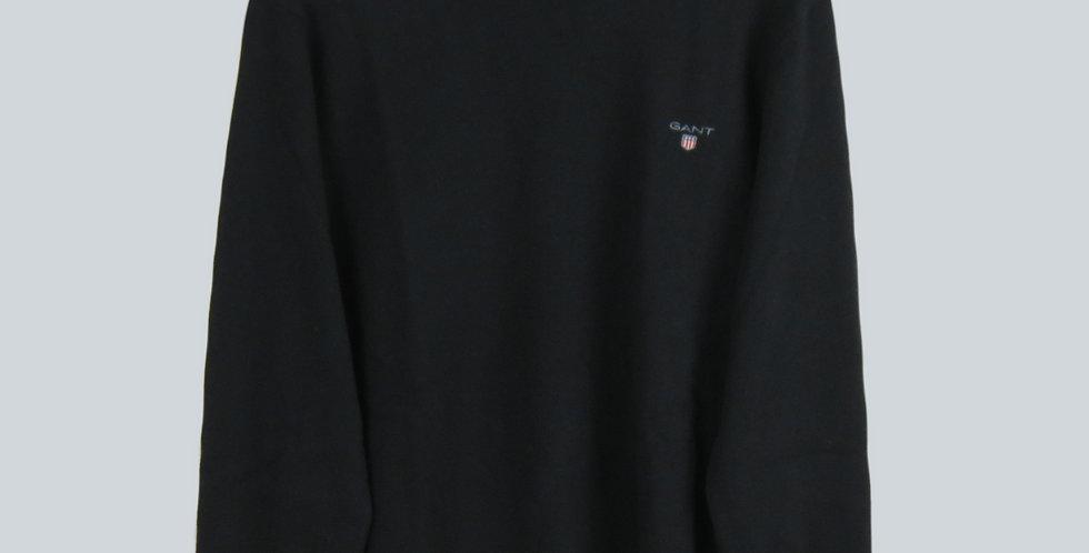 Gant Superfine Lambswool Crew Sweater Black