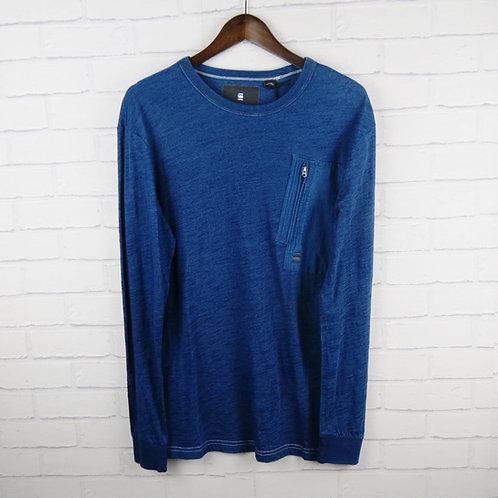G-Star Raw Indigo Long Sleeve T-Shirt