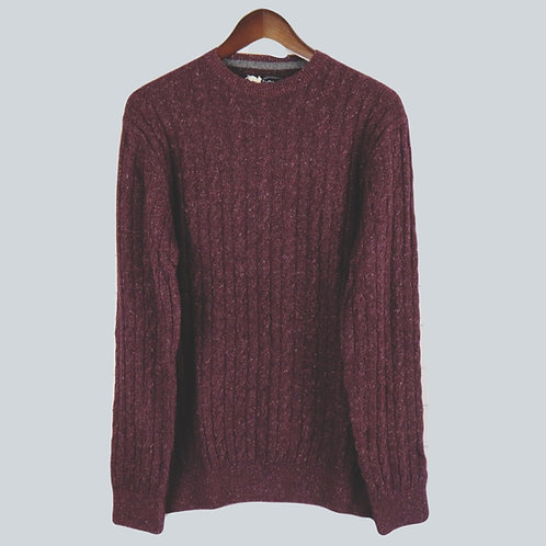 Barbour Burgundy Cable Sweater