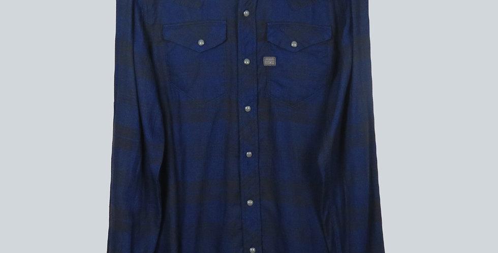 G-Star Raw Indigo Check Western Shirt