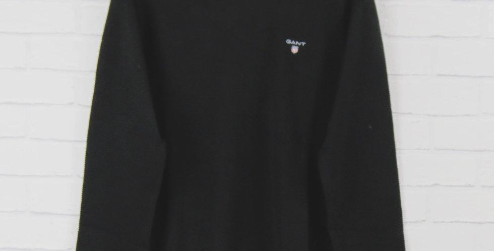 Gant Black Pique Crew Sweater